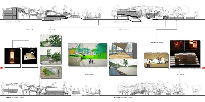 Architecture Portfolio A4 Landscape Tem   Design Bundles