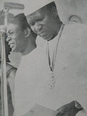 Dr. Kwame Nkrumah and Ahmed Sekou Toure, Co-Presidents of the People's Revolutionary Republic of Guinea. Nkrumah lived in Guinea after the CIA-backed coup in Ghana in February 1966. by Pan-African News Wire File Photos
