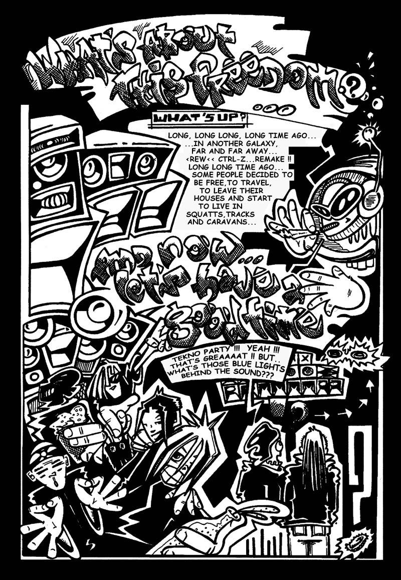 Zone Of The Free Tekno Comic