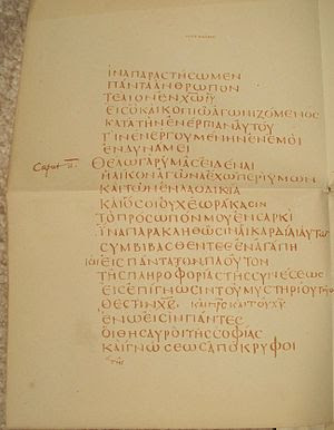 Single page of the Codex Claromontanus contain...