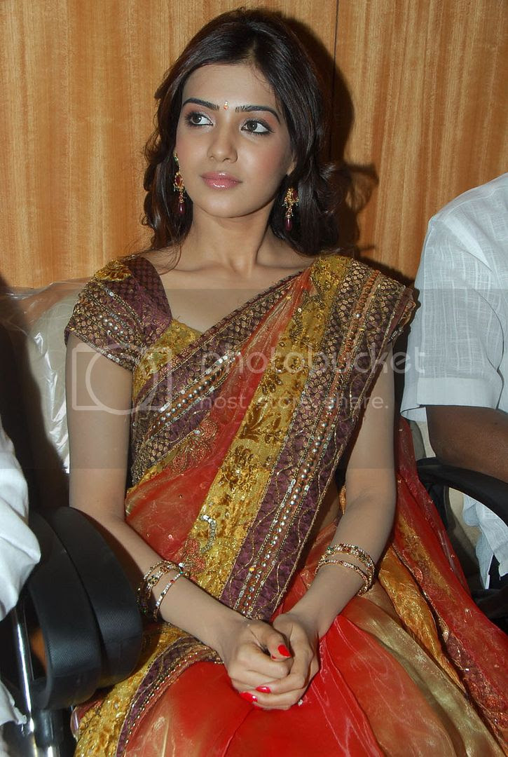samantha ruth prabhu in saree cute and hot collection | veronica warning