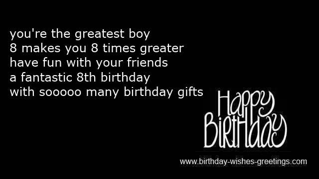 8th Birthday Wishes Boy And 8 Year Old Girl Quotes Bday