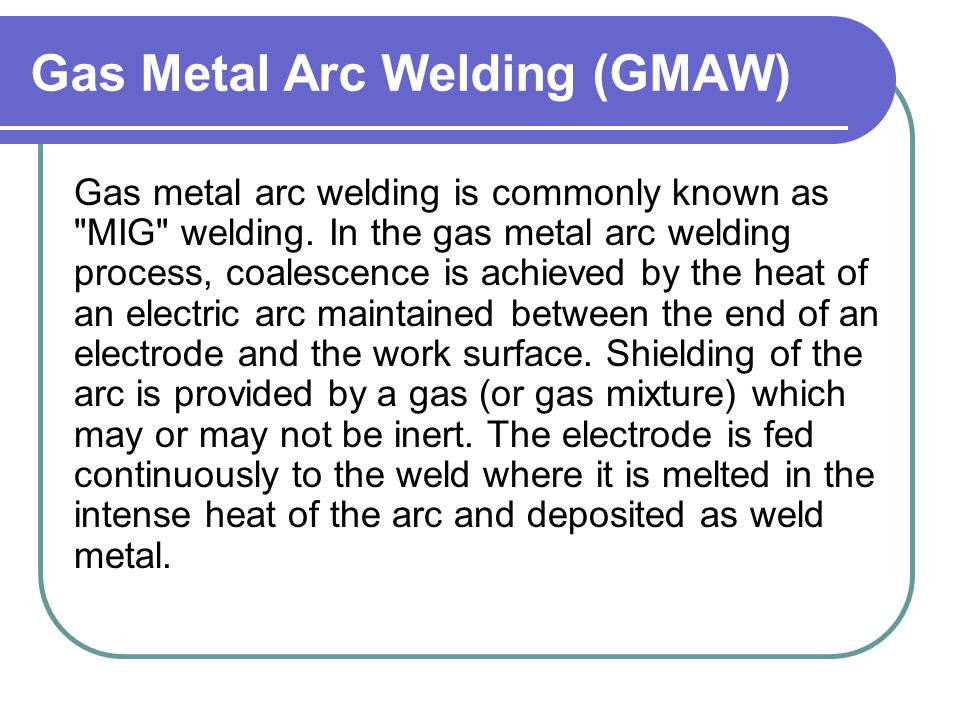 Inert Gas Metal Inert Gas Welding Ppt
