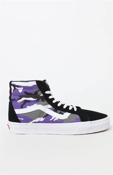 vans pop camo sk  reissue shoes  purple  men lyst
