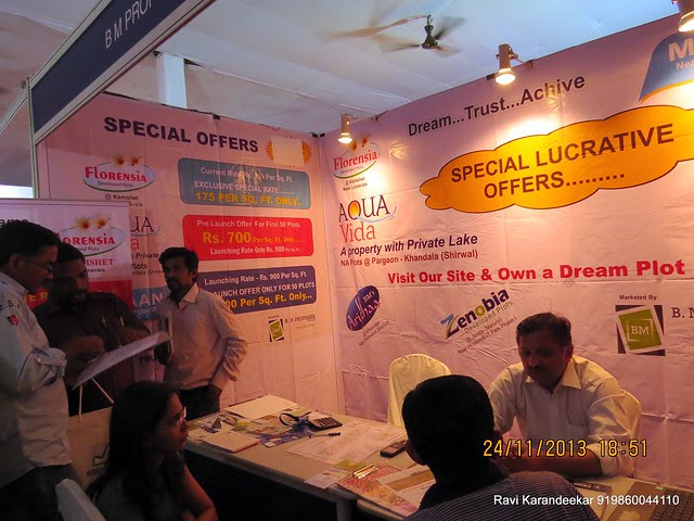 (www.bmpropmark.com) Developed Plots at Mann Hinjewadi - Aqua Vida N A Plots at Pargaon Khandala (Shirwal) - Pune Property Exhibition, Times Property Expo 'Investment Festival 2013', 23rd & 24th November 2013