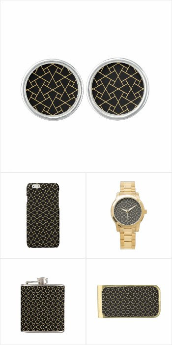 Gifts for Men - Black Islamic Pattern