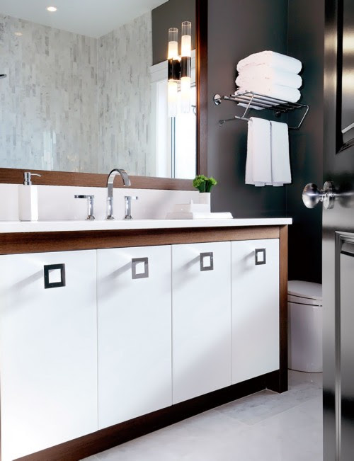 Two Tone Vanity - Contemporary - bathroom - Atmosphere Interior Design