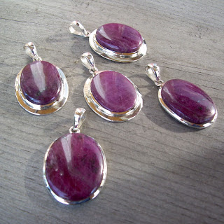 ruby large pendant