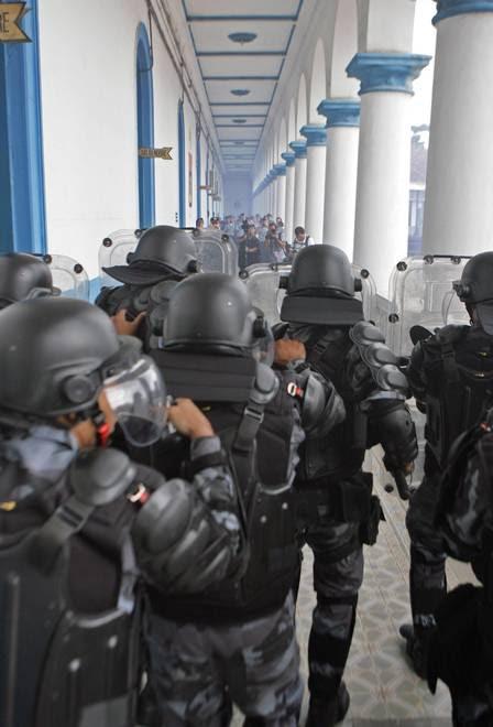 A ação foi realizada na sede do Batalhão de Choque da PM