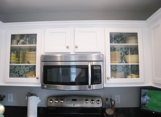 Fabric in Cabinets
