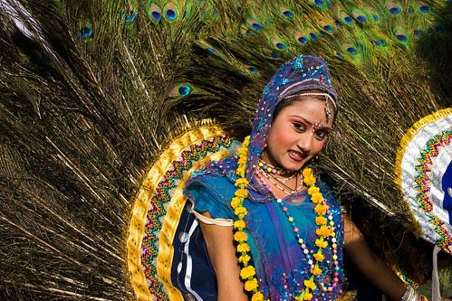 _MG_2264 Peacock the symbol of beauty - Elephant Festival - Jaipur India by © Cameron Herweynen.