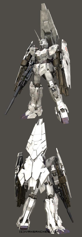 mobile suit gundam Shield Booster Armed Armor DE 3d mesh cg sandrum full armor unicorn shield parts