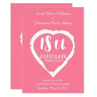 18 Year Anniversary Cards   Greeting & Photo Cards   Zazzle
