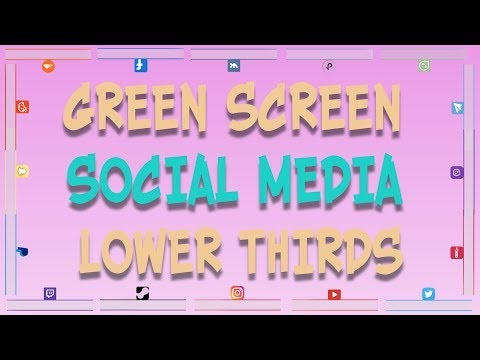 🔔 21 Green Screen Social Media Lower Thirds | YouTube | Facebook | Instagram | Twitter