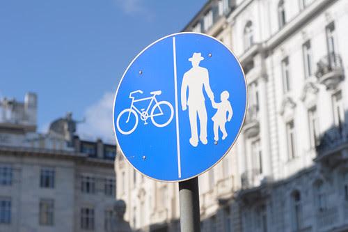 Vienna, Bicycle/Pedestrian Sign