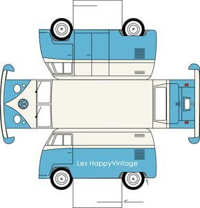 printable paper toy vw - so cute