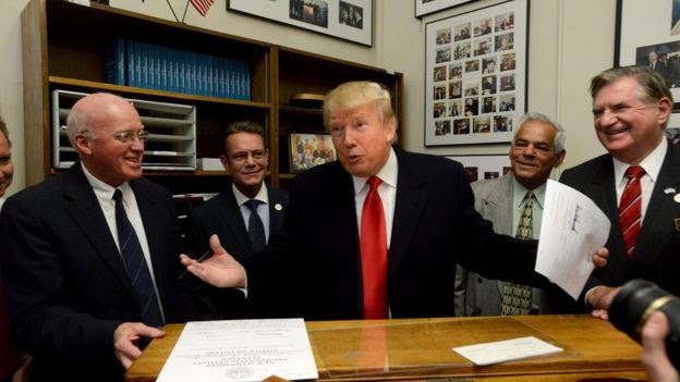 Trump registers for the New Hampshire primary