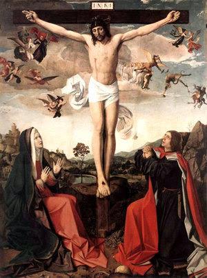 Al morir en la cruz, Jesús le confía el cuidado de su madre al Apóstol San Juan.