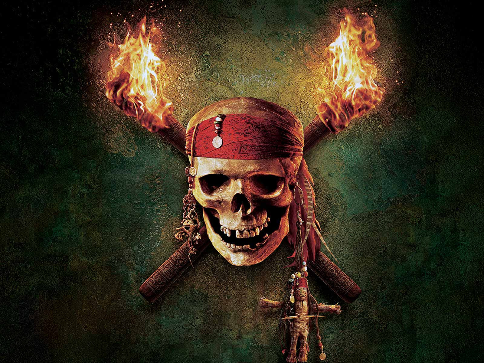 Pirates Of The Caribbean Skull Desktop Wallpaper