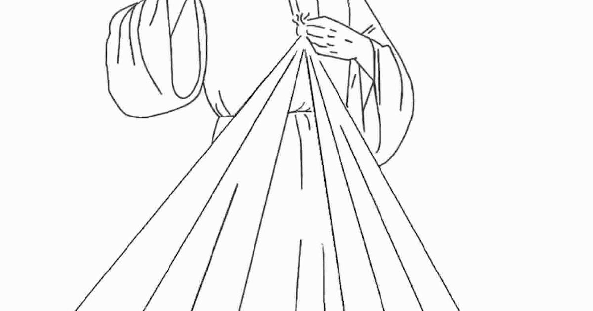 Jesus Da Divina Misericordia Para Colorir Domestica Ecclesia O