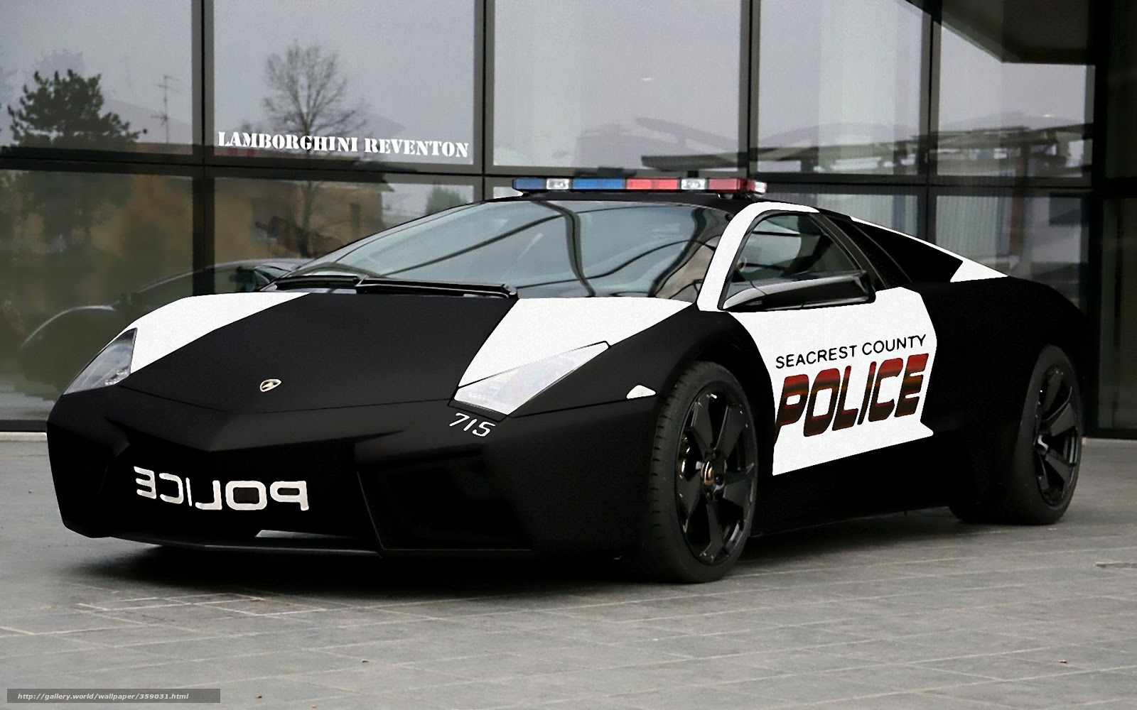 Lamborghini Aventador Police Car HalfScale Cardboard Model Video