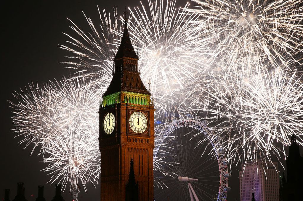 The New Year Fireworks In London