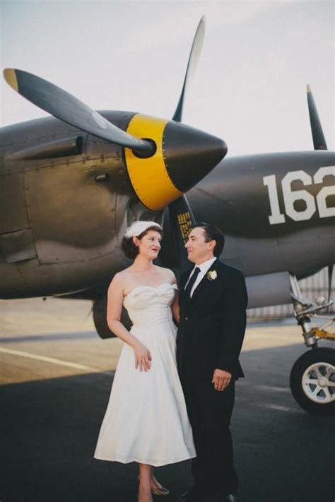 Erin & Matt   Vintage Airplane Hangar Wedding   Weddbook