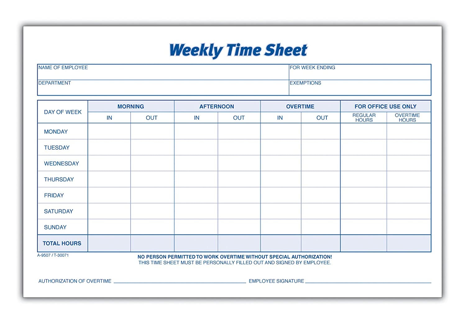 TIMESHEET - FreeTemplate With Regard To Weekly Time Card Template Free
