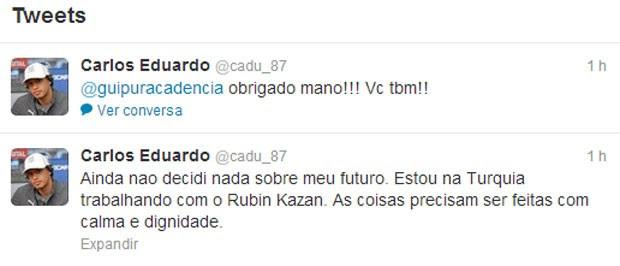 print do Twitter do Carlos Eduardo (Foto: Reprodução / Twitter)