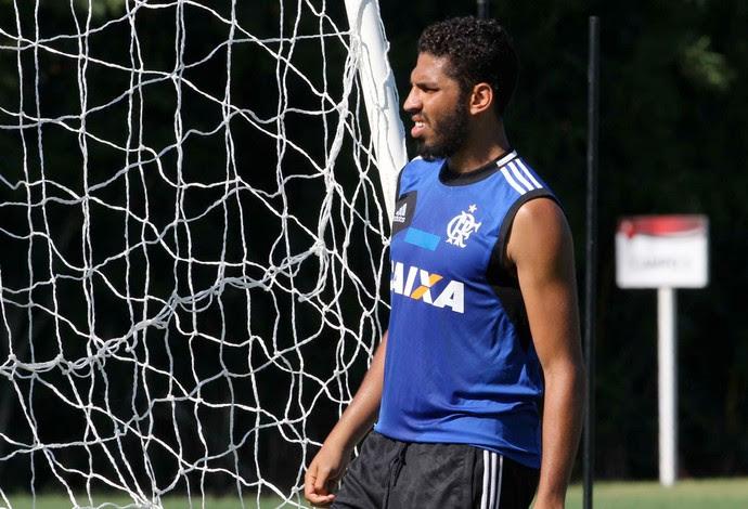 Wallace treino Flamengo (Foto: Marcio Mercante / Agência Estado)