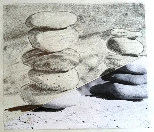 rock drawing