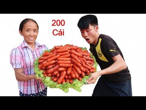 Bà Tân Vlog - Nướng 200 Cái Xúc Xích Siêu Cay Khổng Lồ Ăn Mừng 400.000 Subscribe