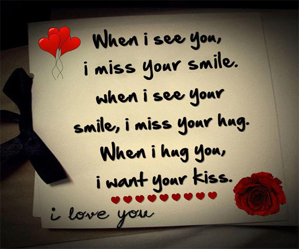 Love Kiss Hug Quotes Whenever I Miss You Quotespicturescom