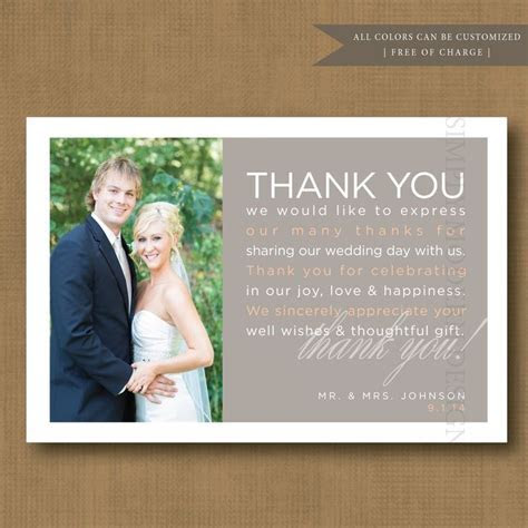Wedding Gift Thank You Card Wording   Thank you Wedding