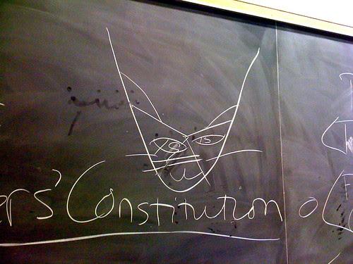 Blackboard Kitty Cat