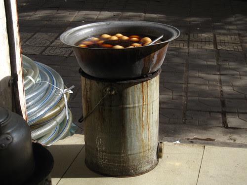 Tea Eggs getting ready, Jianshui, Yunnan