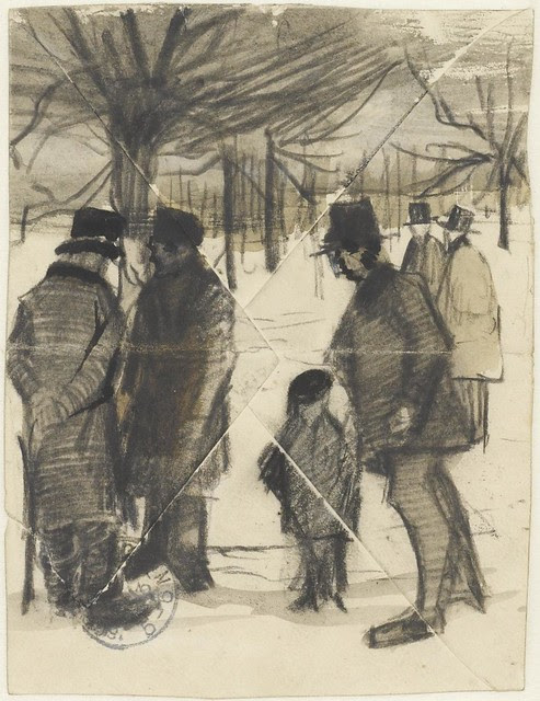 drawing of people by Van Gogh