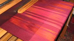 handspun silk fabric, fire