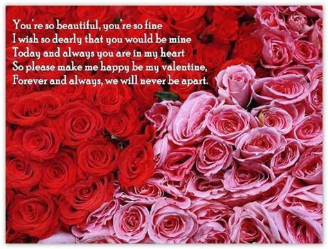 Always and Forever My Valentine   Verses & Poems for Cards