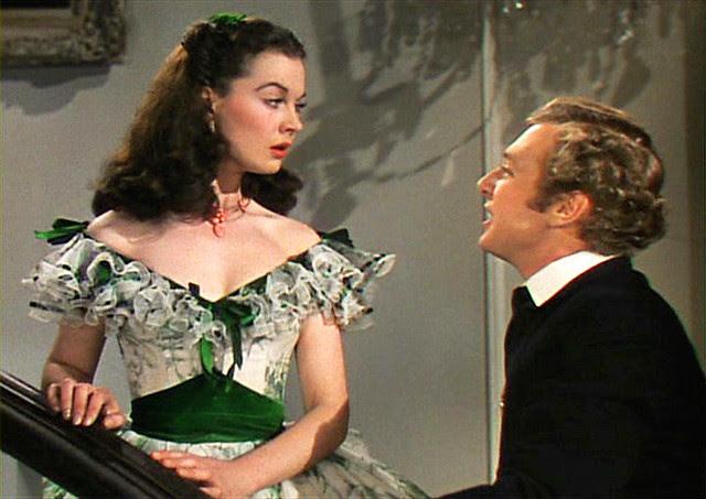 Scarlett O'Hara green white picnic dress