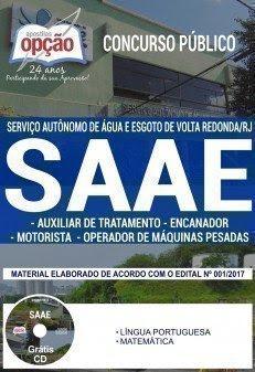 Apostila Concurso SAAE Volta Redonda 2017 | CARGOS DE NÍVEL FUNDAMENTAL COMPLETO