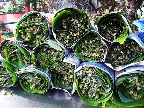 Banana leaves ready to roll out!