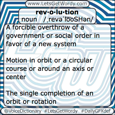 Revolution 03/08/2013 GFX Definition of the Day