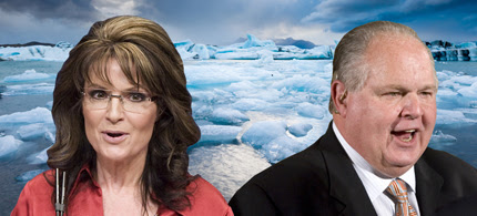 Sarah Palin and Rush Limbaugh. (photo: Jonathan Ernst/Reuters/J. Scott Applewhite/Tomas Rebro/AP/Shutterstock)