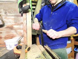 Forming a spatula handle