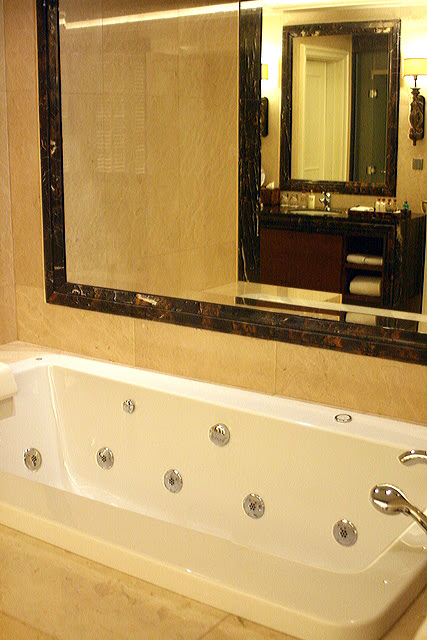 Hot tubs in every bathroom of The Mansion