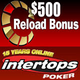 Intertops Poker Giving $500 Reload Bonus This Weekend