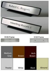 1 34 X 9 18 Plastic Frame Wname Plate Architectural Plastic