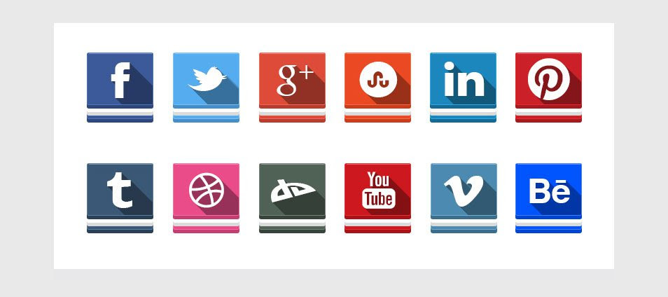 12 Free Social Ice-Cream Sandwich Icons with PSD