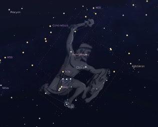 la constelación de Orión.